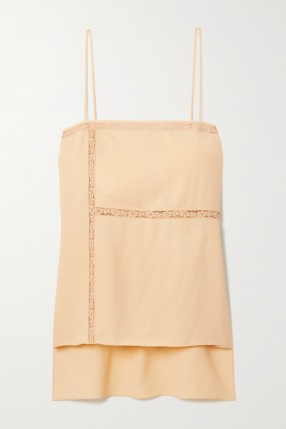 Chloé Lace-trimmed crepe camisole