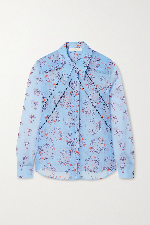 Chloé Floral-print silk-georgette shirt
