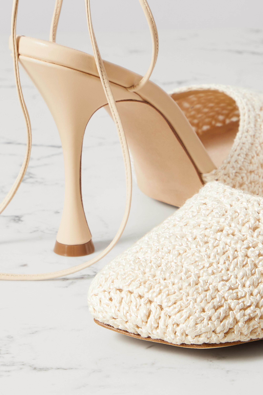 Magda Butrym Leather-trimmed crochet-knit pumps