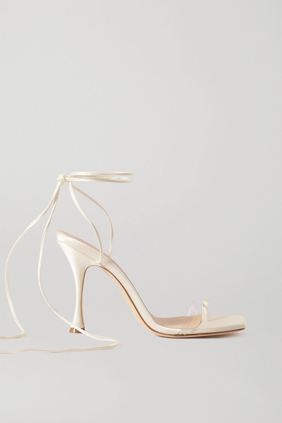 Magda Butrym Satin and PVC sandals