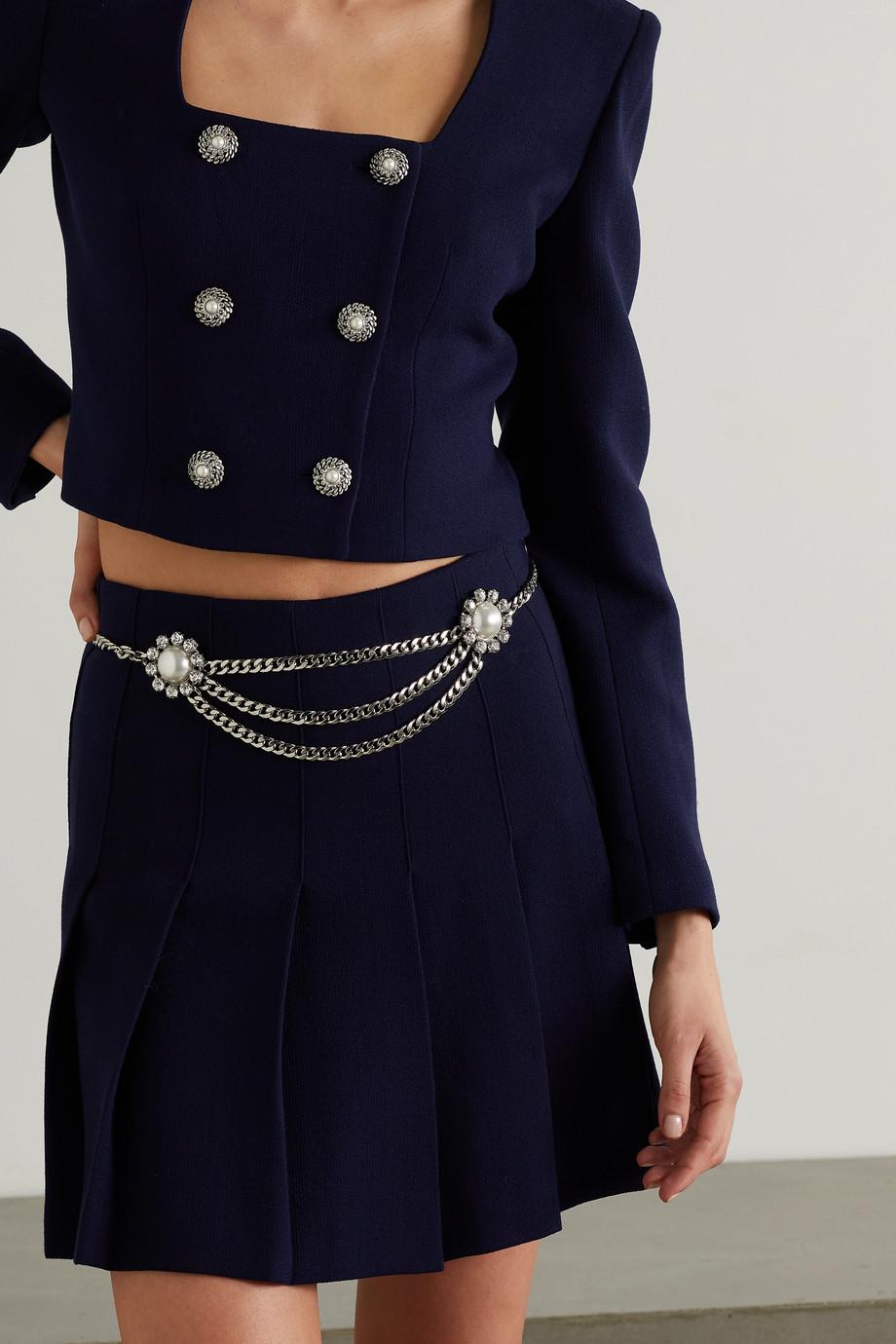 Alessandra Rich Embellished silver-tone belt