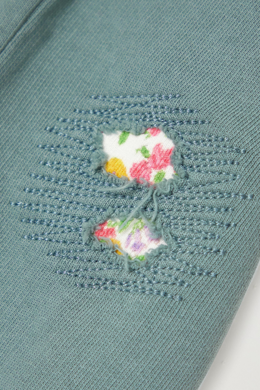 LoveShackFancy Pantalon de survêtement en jersey de coton effet vieilli Mirabella