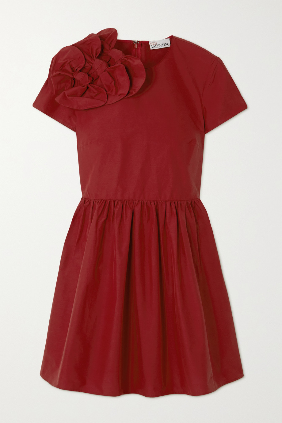 REDValentino Bow-embellished taffeta mini dress