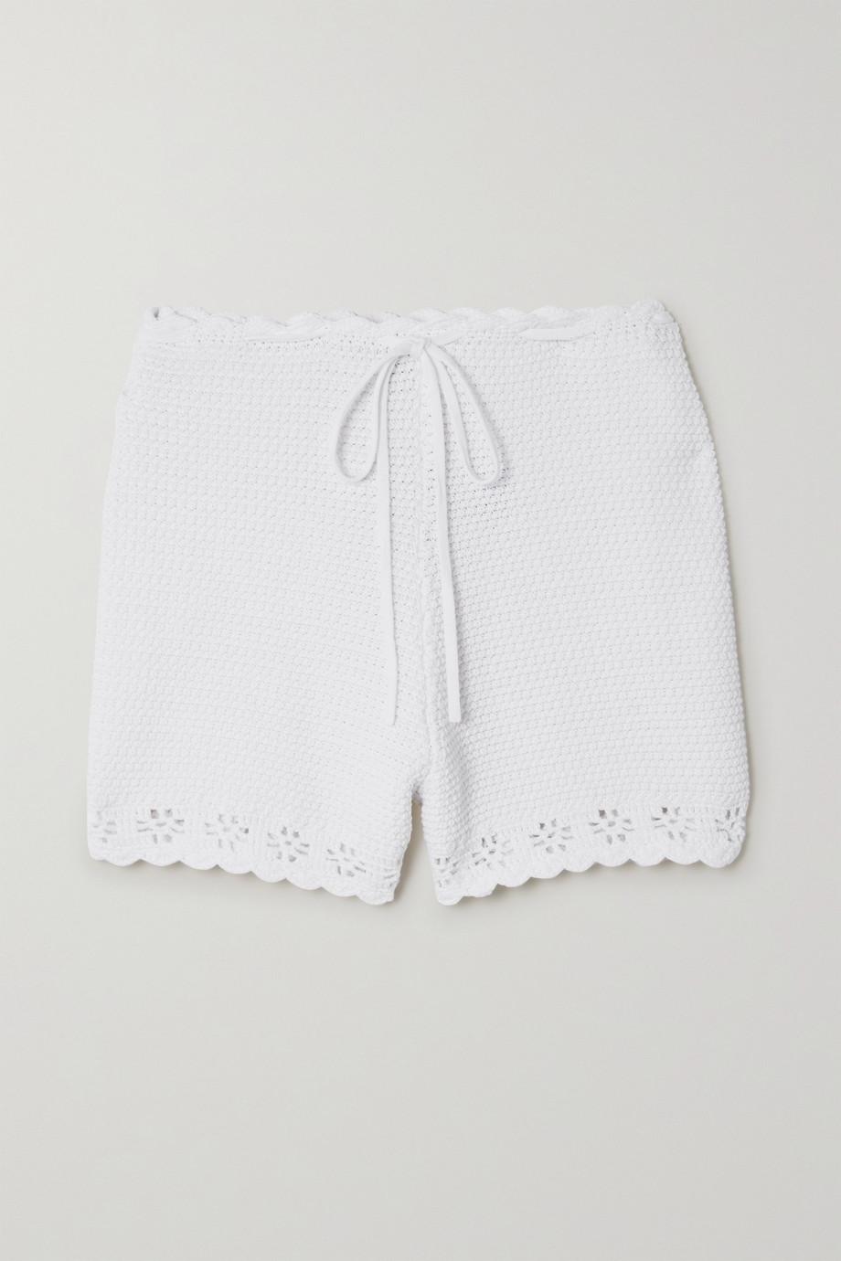 REDValentino Crochet-knit cotton shorts