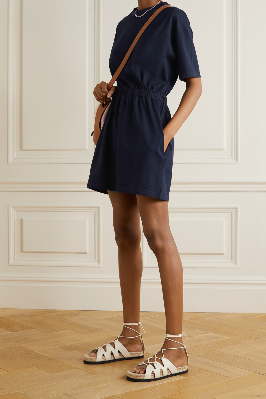 Ninety Percent Organic cotton-jersey mini dress
