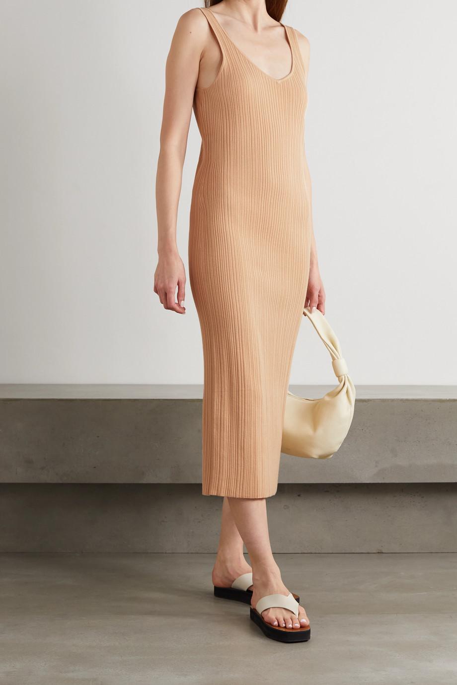 Ninety Percent Ribbed Lyocell-blend midi dress