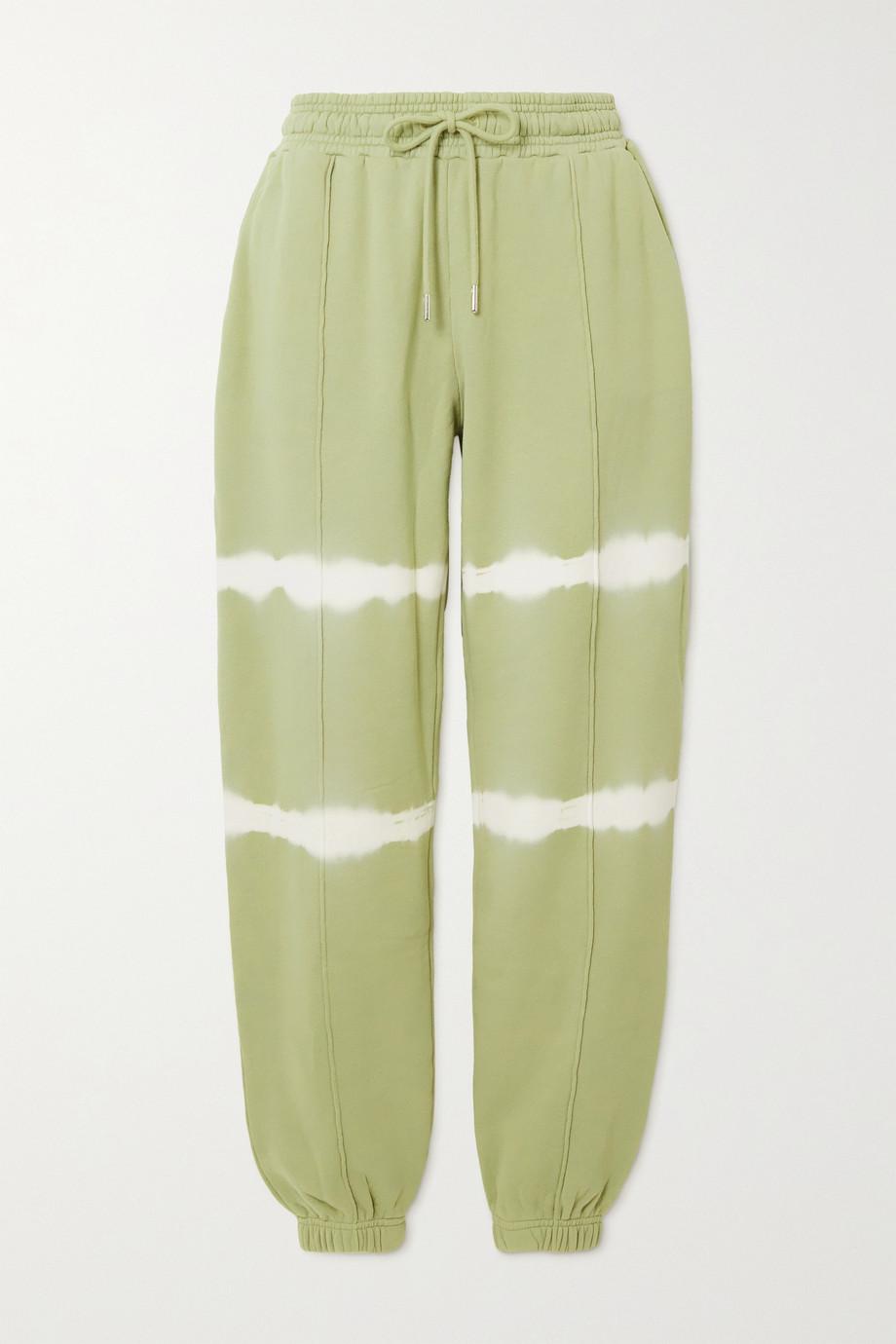 Ninety Percent Tie-dyed organic cotton-jersey track pants