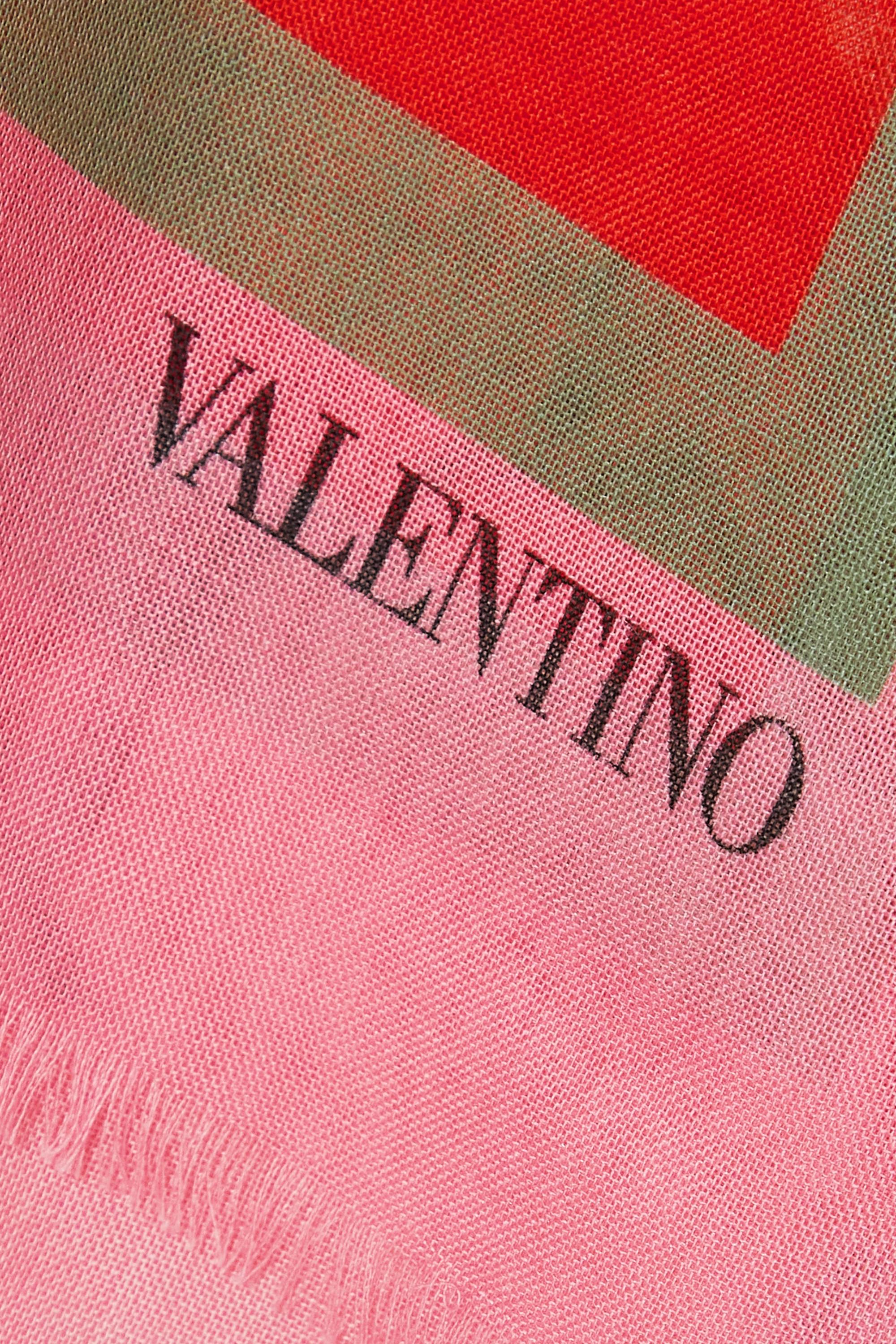 Valentino Tuch aus einer Kaschmir-Seidenmischung mit Blumenprint