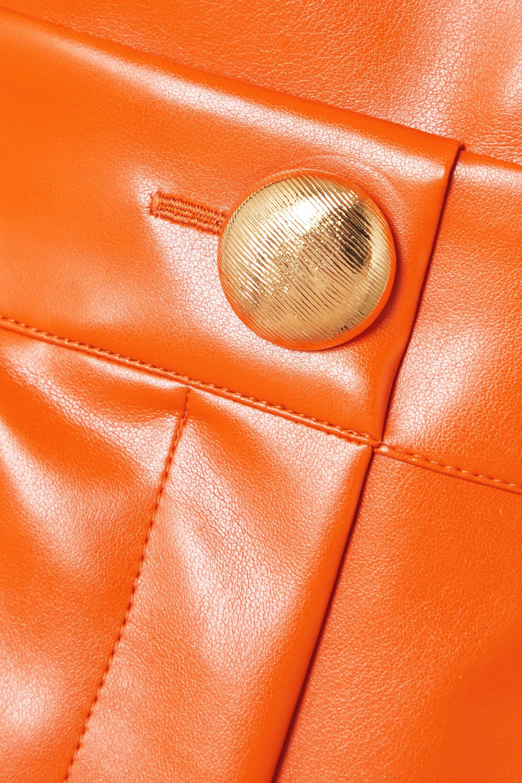 Rowen Rose Faux leather jumpsuit