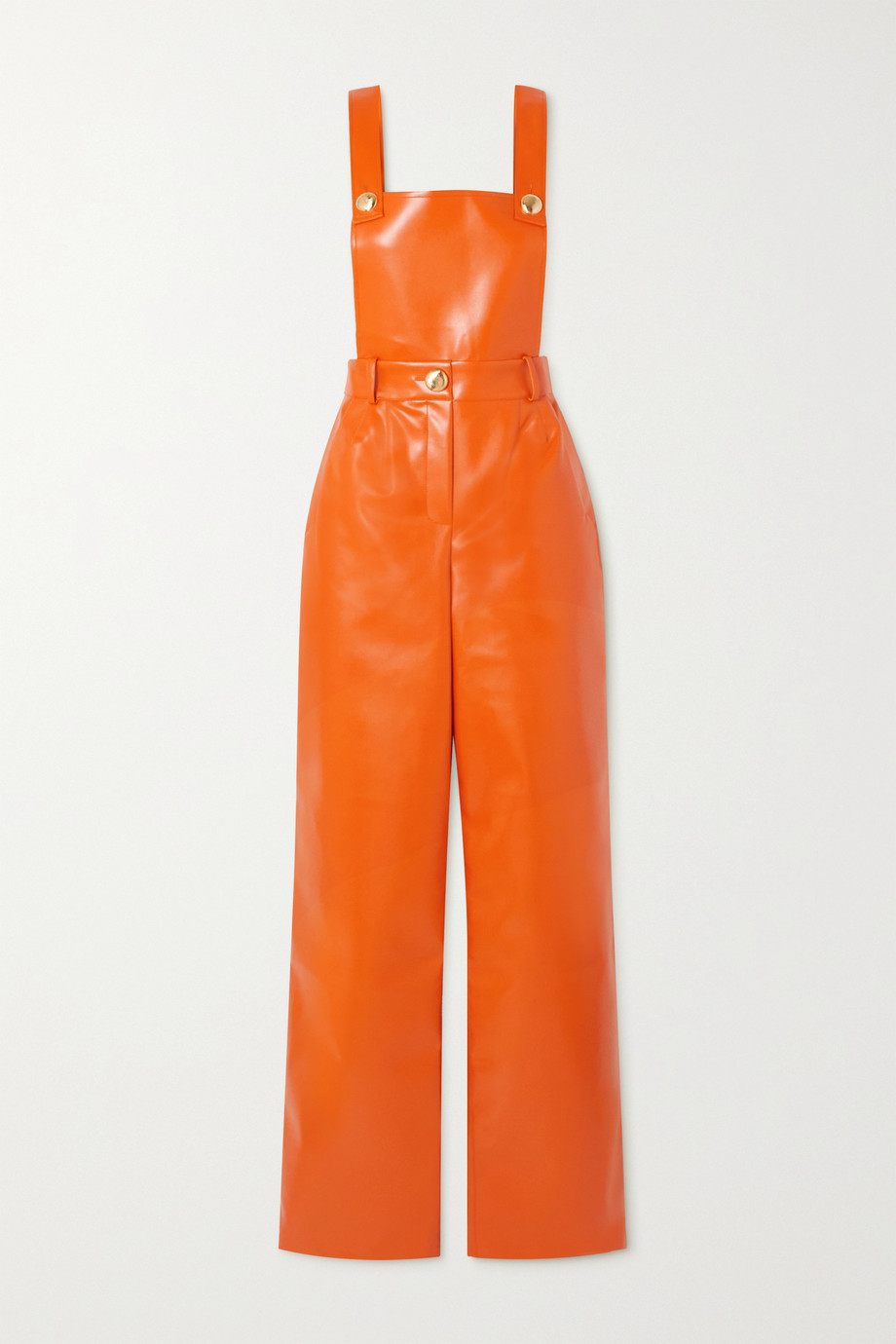 Faux leather jumpsuit by ROWEN ROSE, available on net-a-porter.com for EUR417.08 Elsa Hosk Dress Exact Product