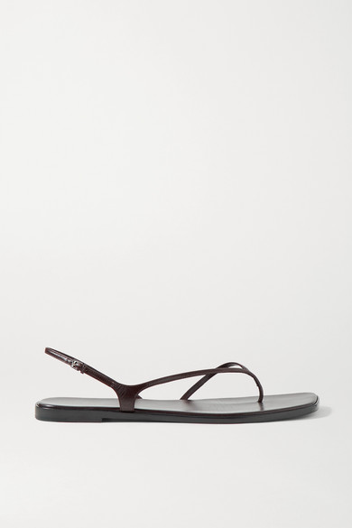 The Row Leathers CONSTANCE LEATHER SLINGBACK SANDALS