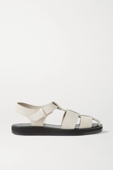 The Row Sandals GAIA 1 WOVEN TEXTURED-LEATHER SANDALS