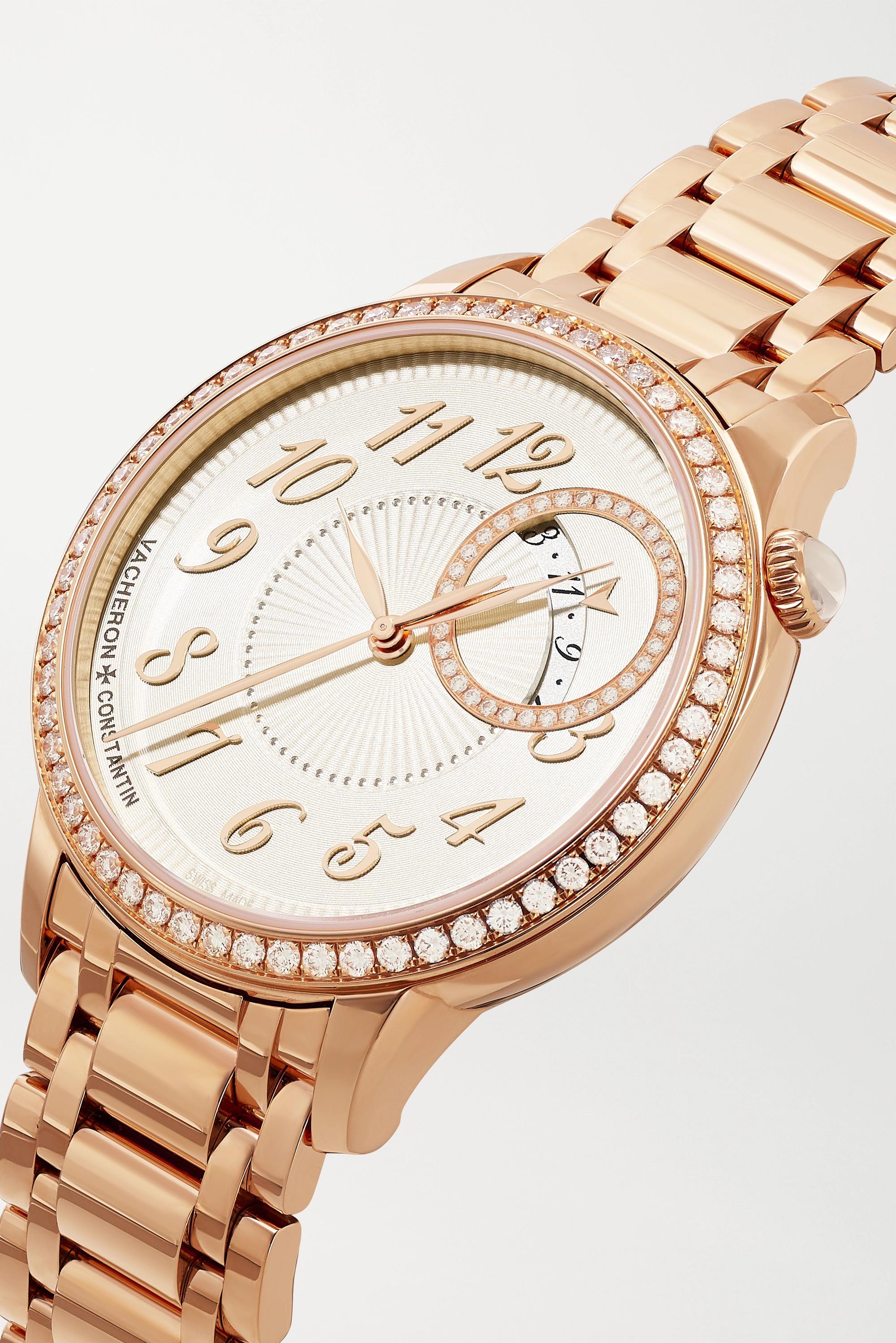 Vacheron Constantin Egérie Automatic 35 mm Uhr aus 18 Karat Gold mit Diamanten
