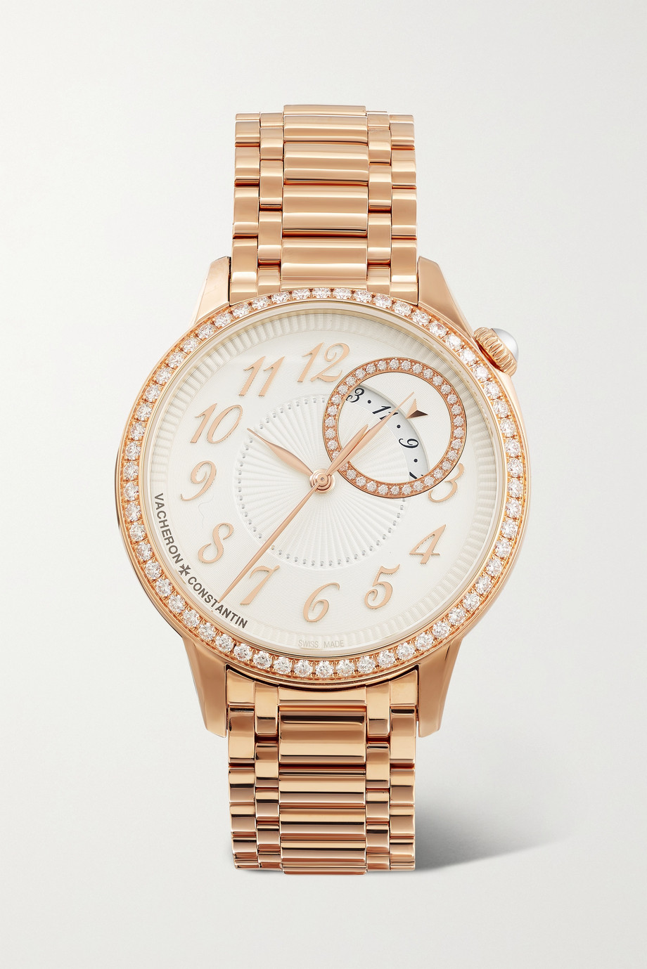 Vacheron Constantin Egérie Automatic 35mm 18-karat rose gold and diamond watch