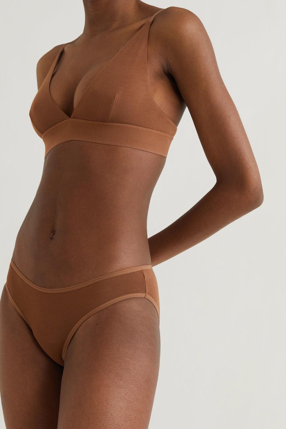 Baserange Stretch-bamboo jersey soft-cup triangle bra