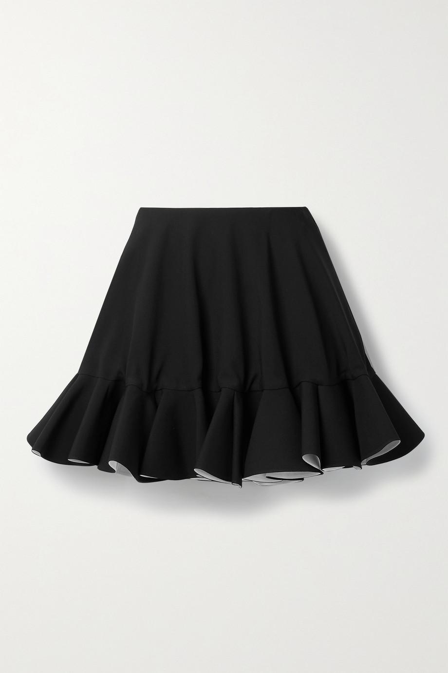 Versace Ruffled crepe mini skirt