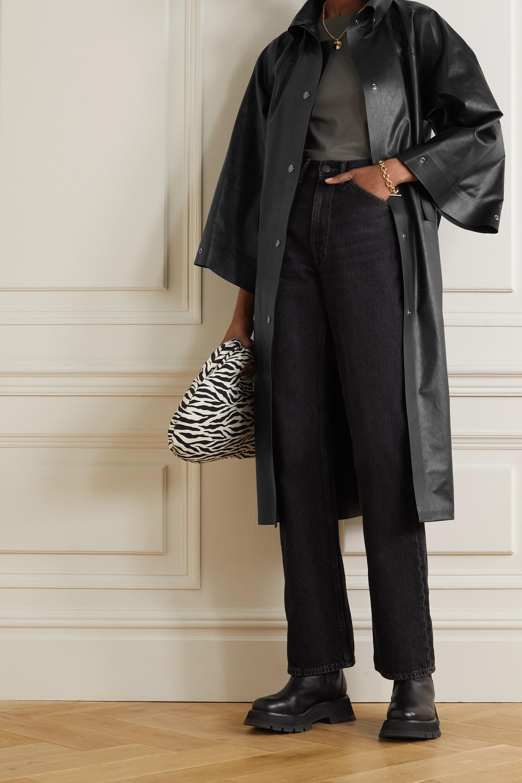 Kassl Editions Trench-coat en coton mélangé enduit à ceinture