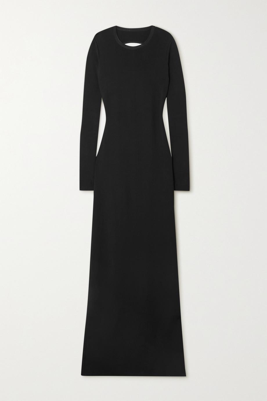 Givenchy Robe longue dos ouvert en mailles à découpes