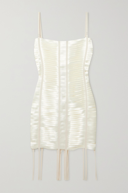 Givenchy Minikleid aus Satin mit Cut-outs und Ripsbandbesätzen