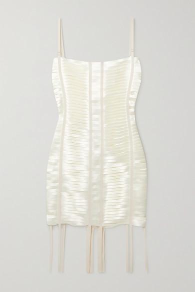 Givenchy Mini dresses GROSGRAIN-TRIMMED CUTOUT SATIN MINI DRESS