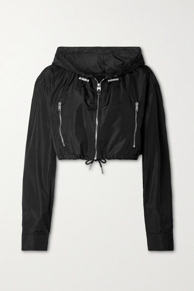 Givenchy Jackets CROPPED HOODED PRINTED SHELL JACKET