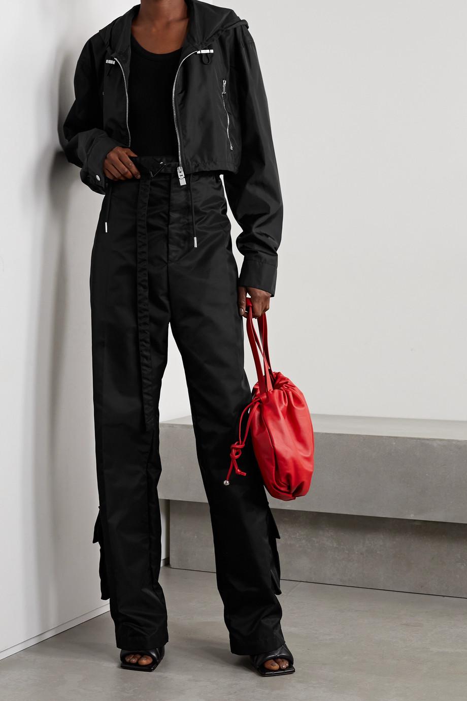 Givenchy Veste raccourcie à capuche en tissu technique imprimé