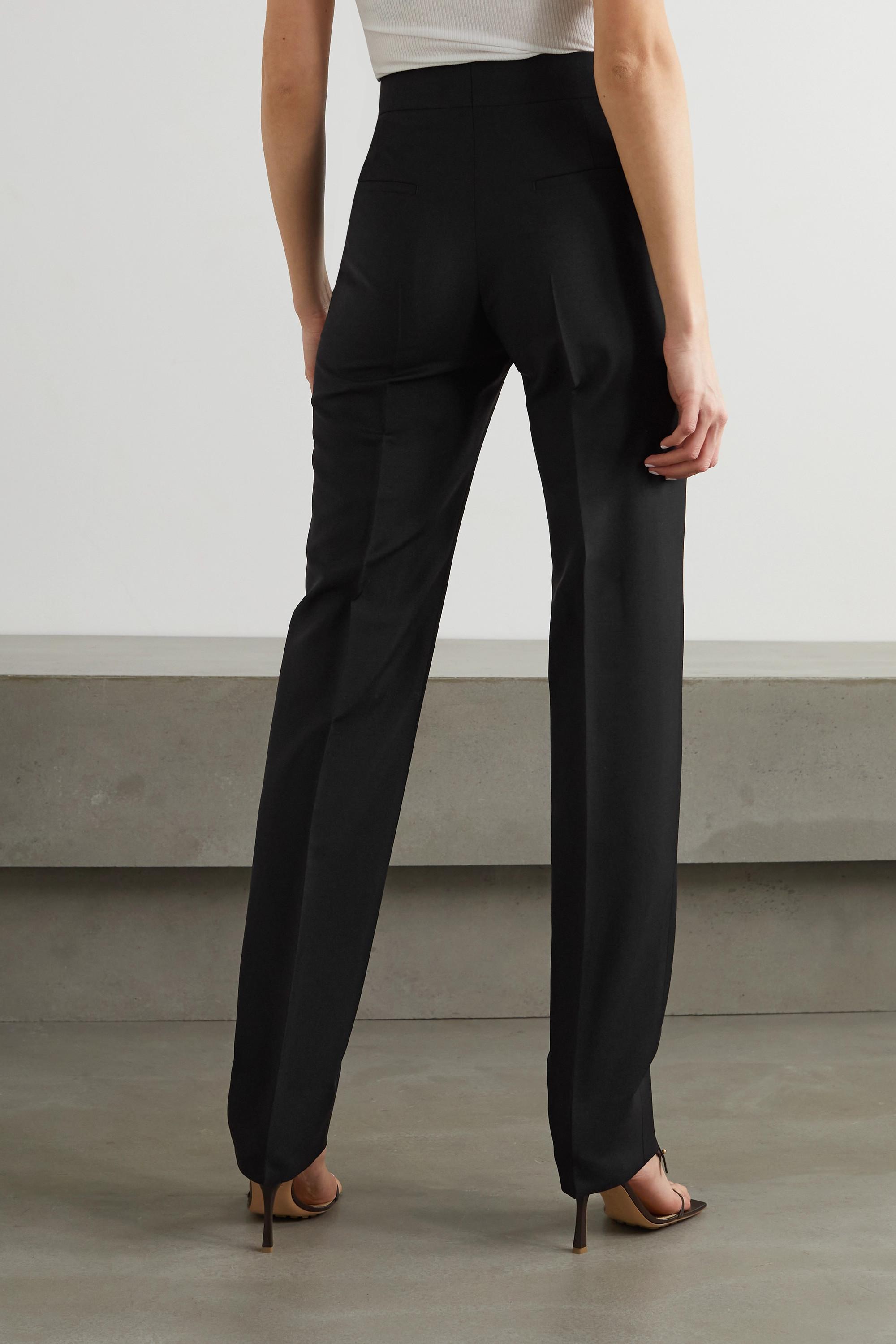 Givenchy Pantalon fuselé en laine et mohair mélangés à plis