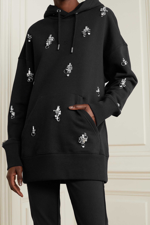 Givenchy Sweat à capuche oversize en jersey de coton à ornements
