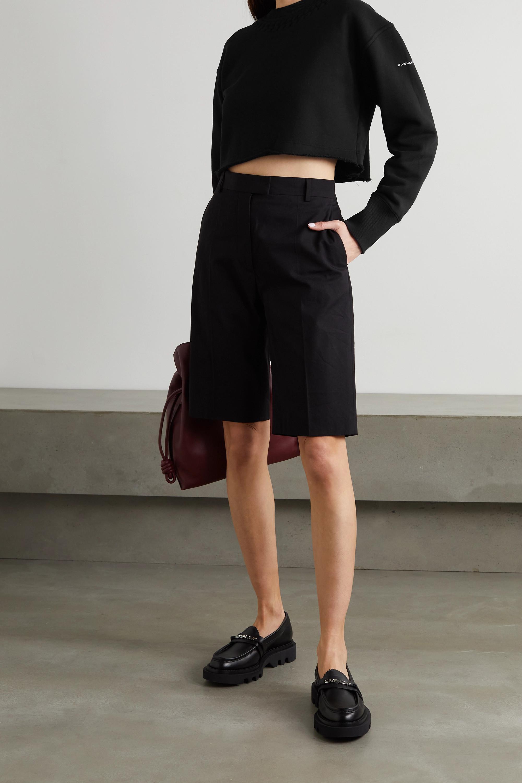 Givenchy Sweat raccourci en jersey de coton gaufré