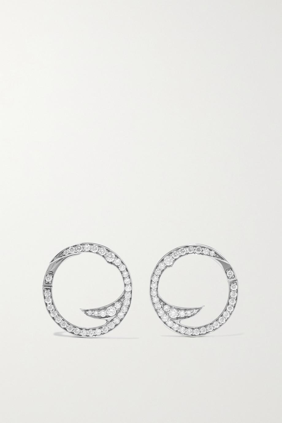 Stephen Webster + NET SUSTAIN Thorn Stem 18-karat recycled white gold diamond earrings