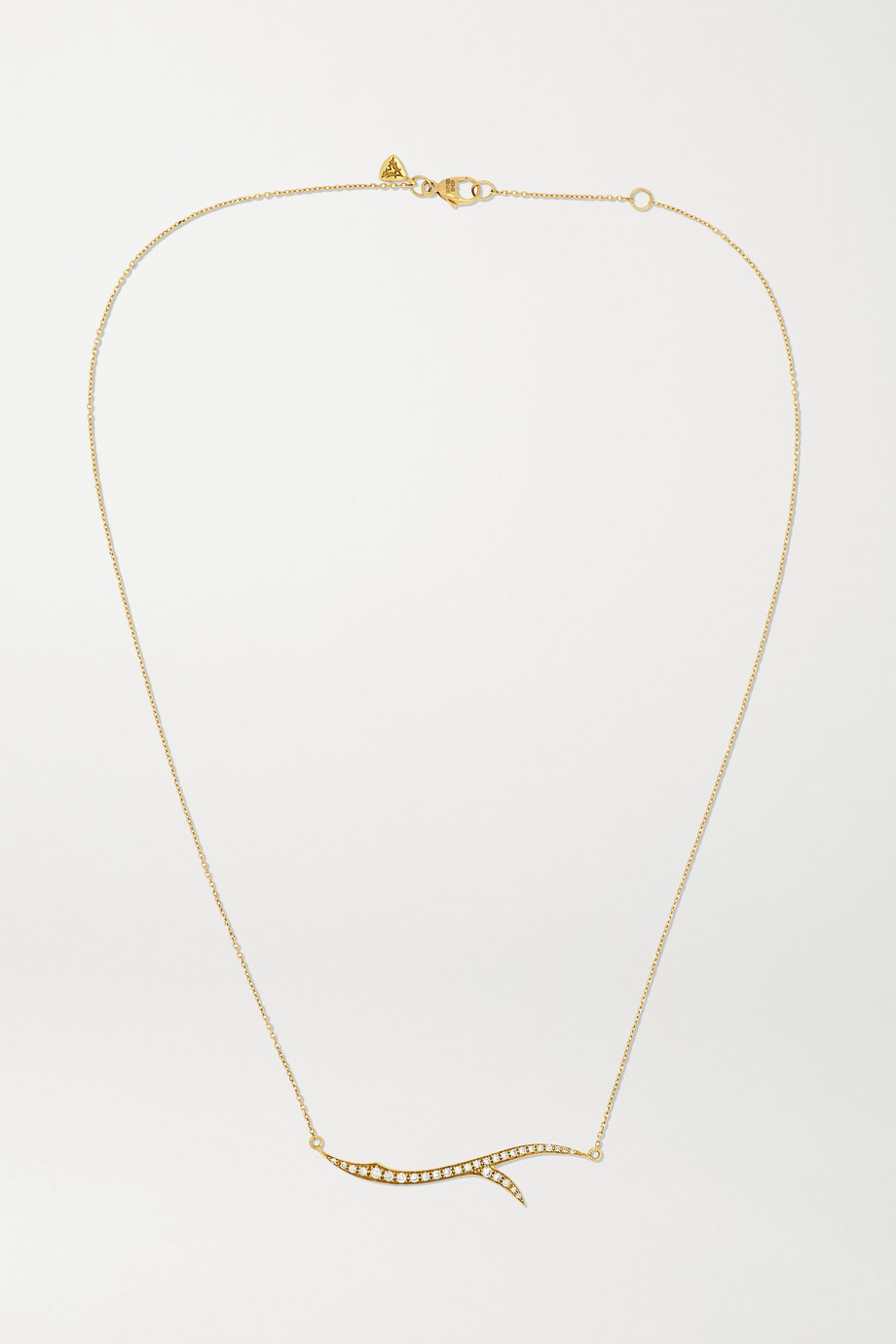 Stephen Webster + NET SUSTAIN Thorn Stem 18-karat recycled gold diamond necklace