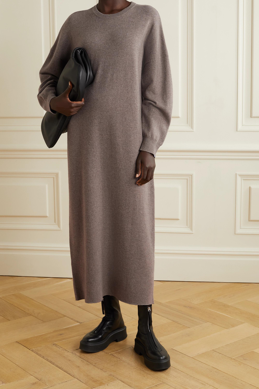 Extreme Cashmere Robe longue en cachemire mélangé chiné