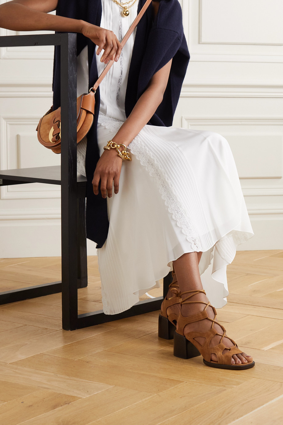 Chloé Gaile leather sandals