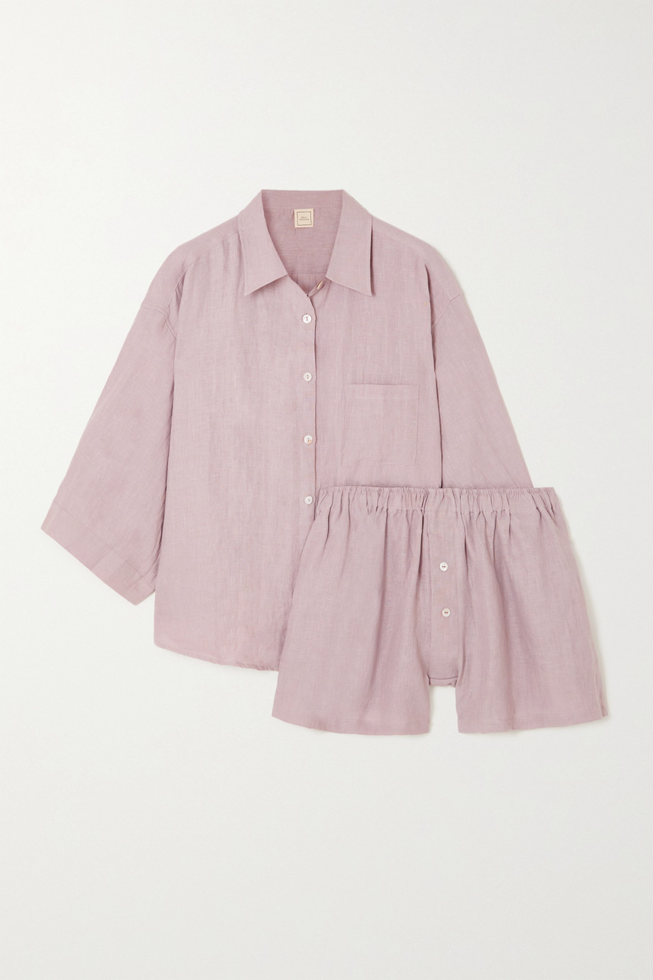 Deiji Studios The 03 washed-linen shirt and shorts set
