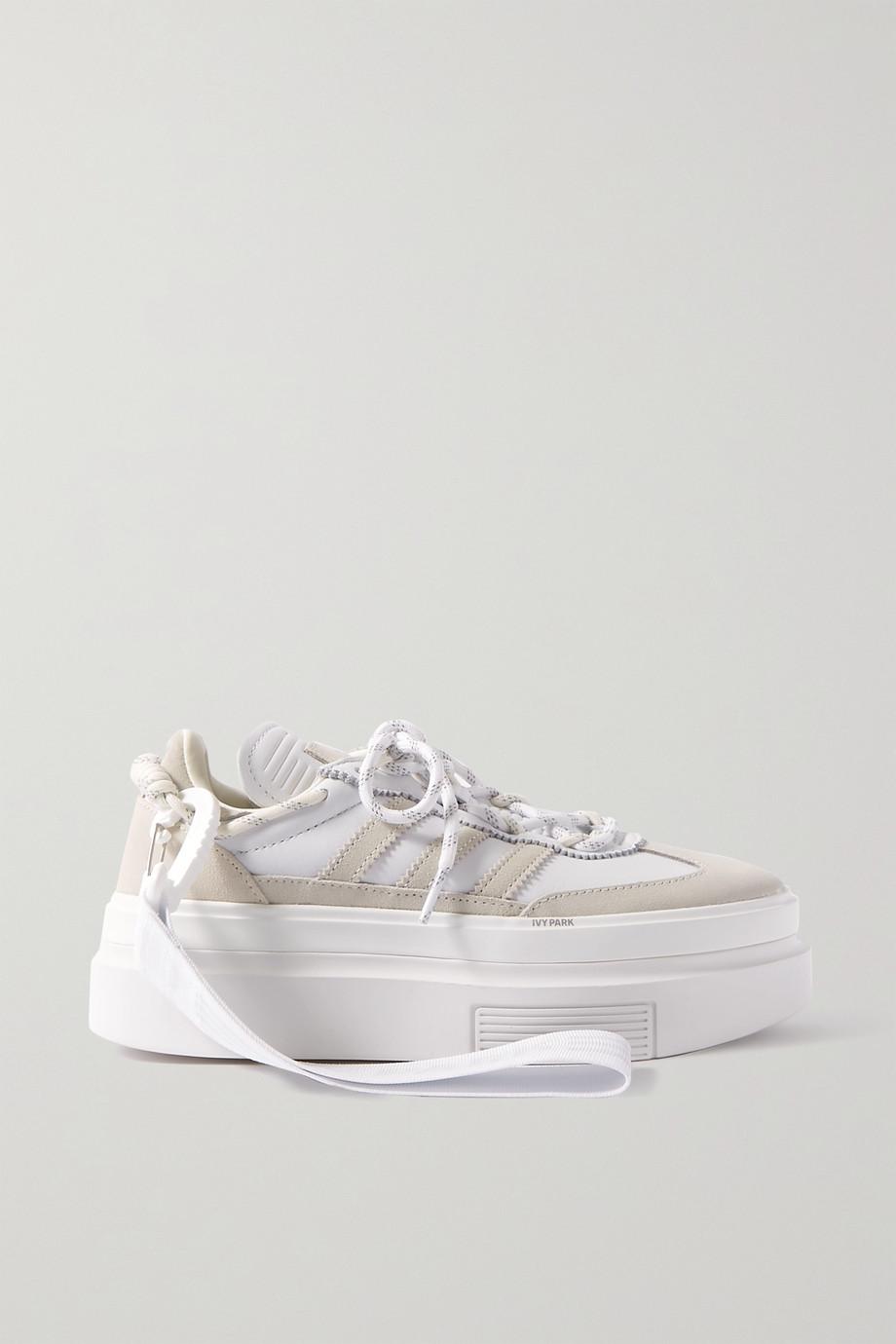 adidas Originals + Ivy Park Super Sleek 72 Sneakers aus Leder und Veloursleder mit Plateau