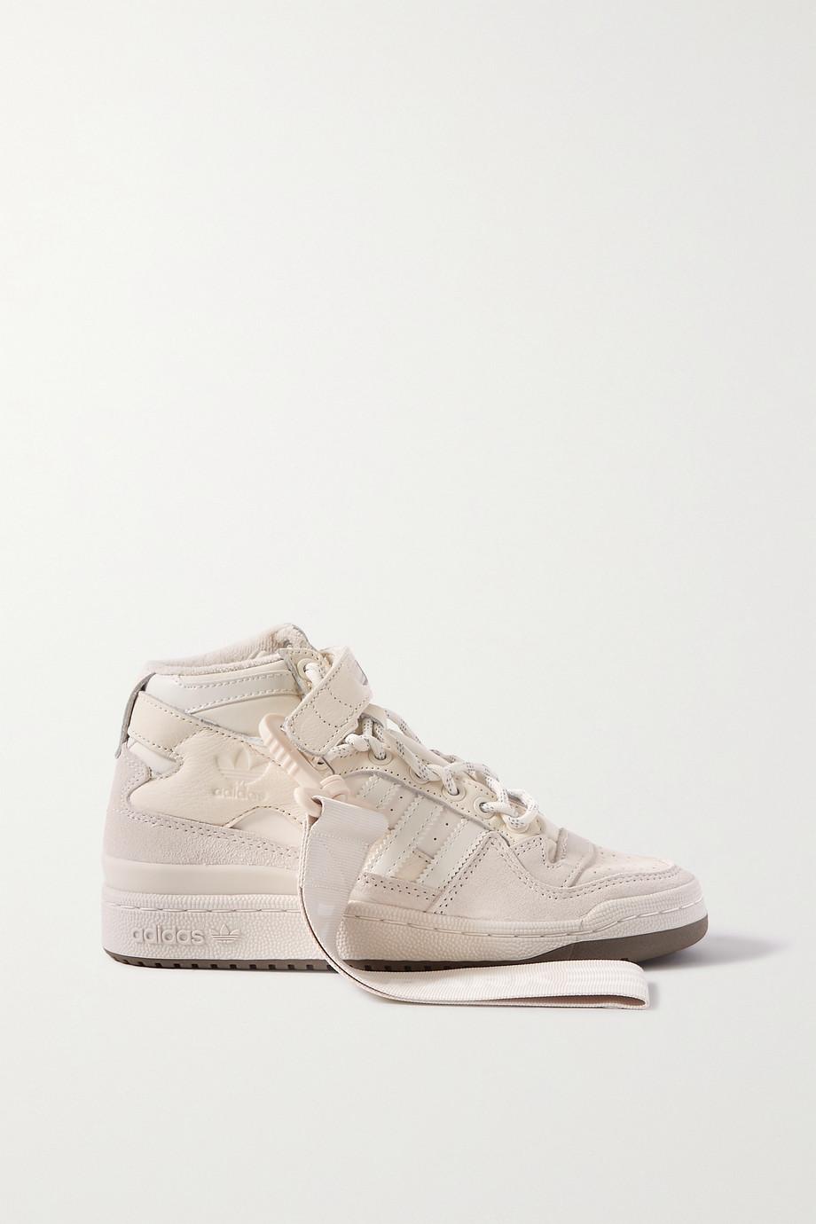 adidas Originals + Ivy Park Forum Mid Sneakers aus Leder und Veloursleder