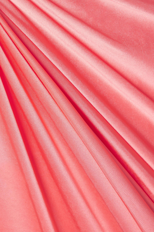 Alexandre Vauthier Neckholder-Robe aus glänzendem Jersey mit Twist-Detail und Raffungen