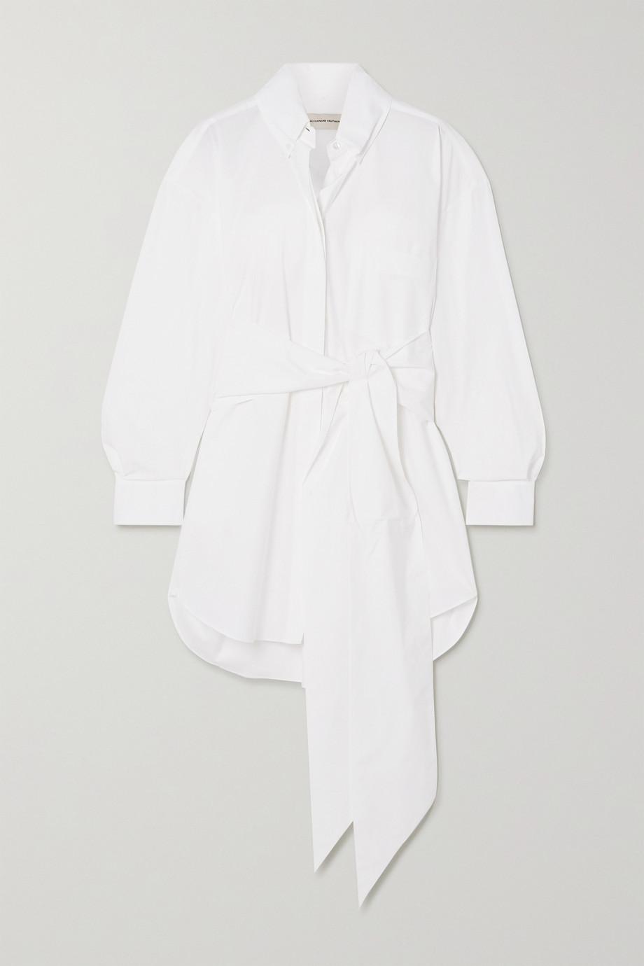 Alexandre Vauthier Belted stretch-cotton poplin mini shirt dress