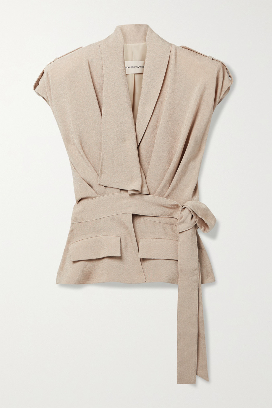Alexandre Vauthier Draped belted woven vest