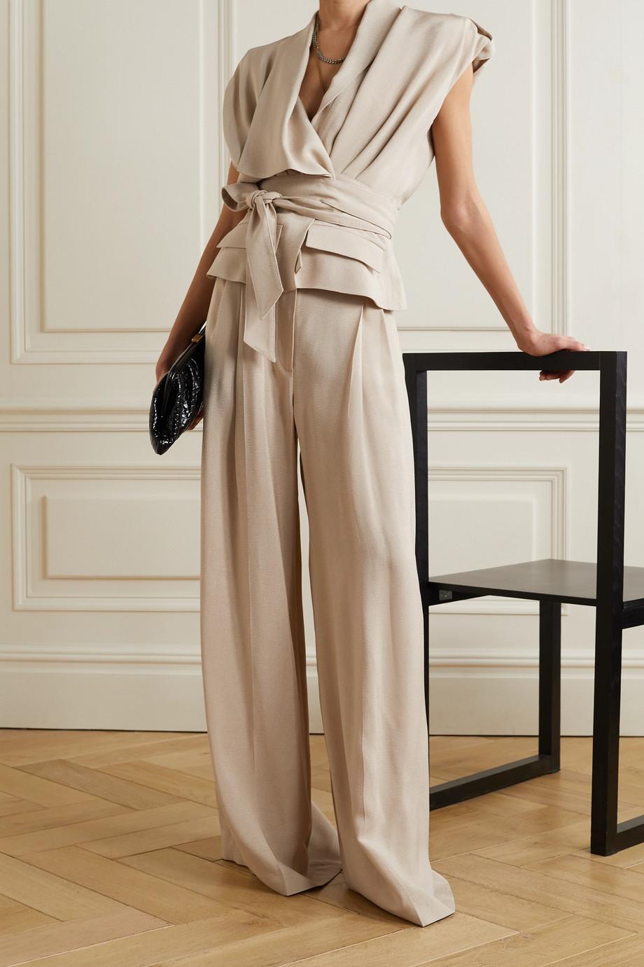 Alexandre Vauthier Woven wide-leg pants