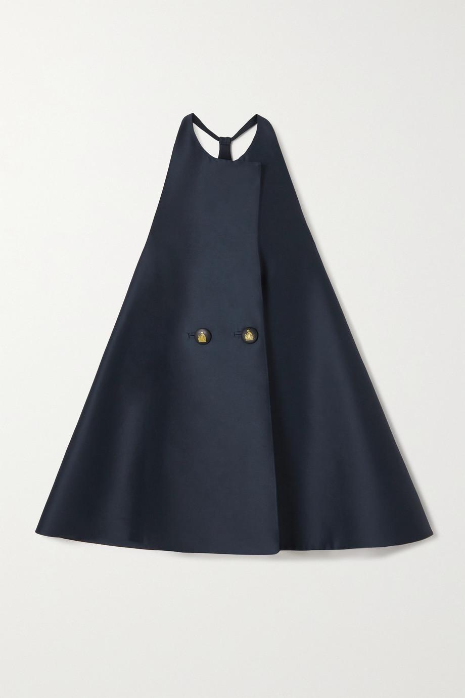 Lanvin Mini-robe à double boutonnage en laine et soie mélangées