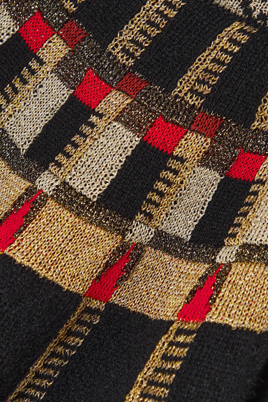 Lanvin Pull en laine métallisée à motif jacquard