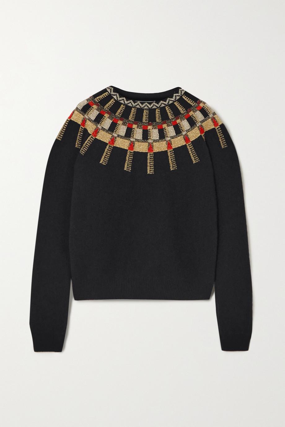 Lanvin Metallic Fair Isle wool sweater