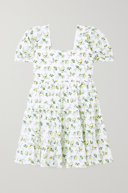 Faithfull The Brand + NET SUSTAIN Eldora tiered floral-print cotton-poplin mini dress