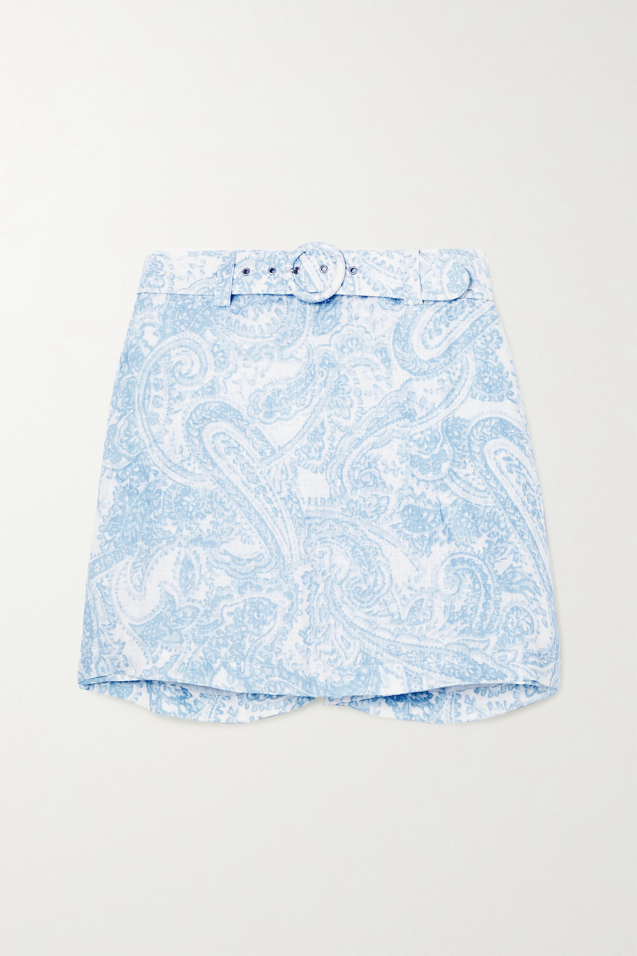 Faithfull The Brand + NET SUSTAIN Celia belted layered paisley-print linen shorts