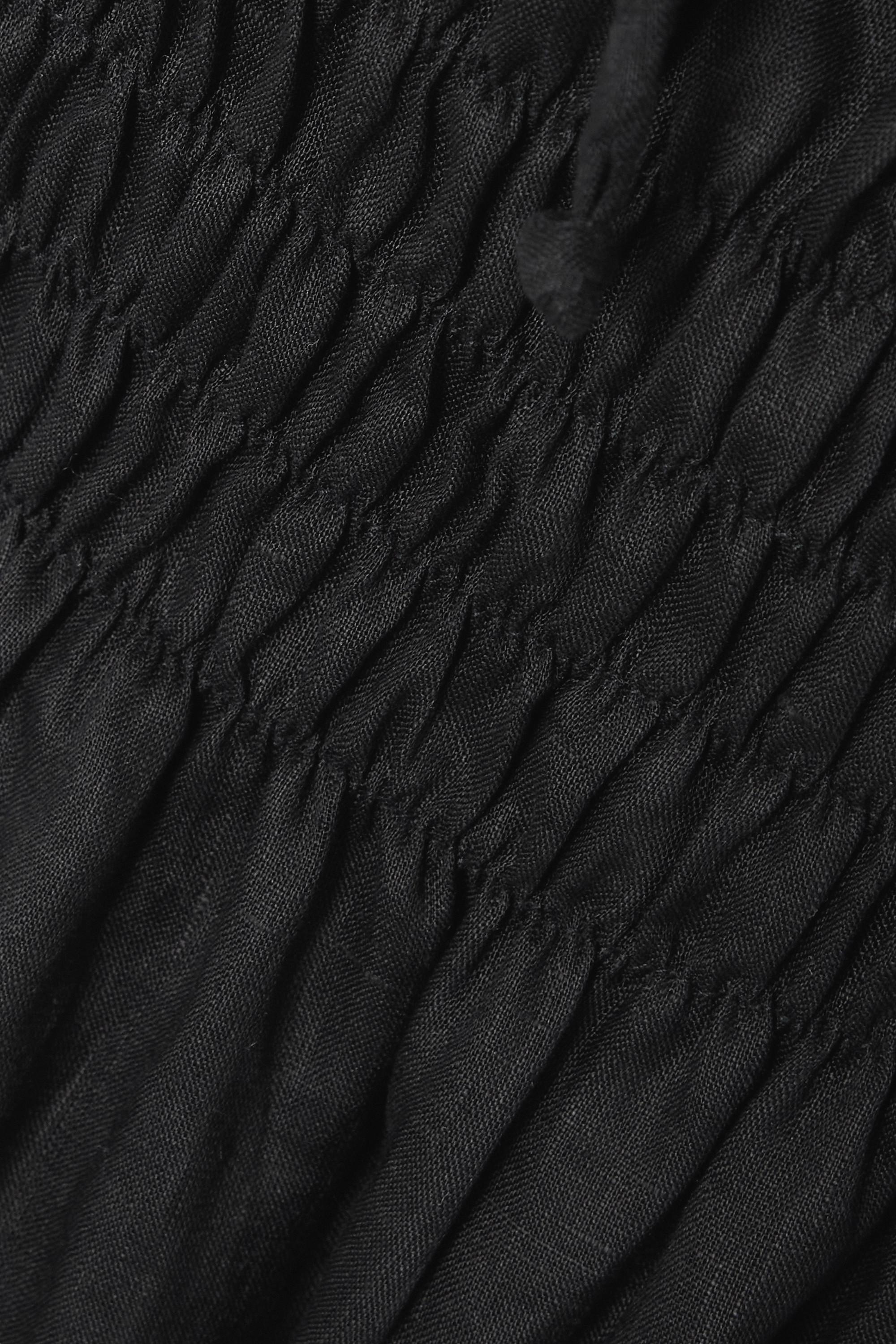 Faithfull The Brand + NET SUSTAIN Maurelle tie-detailed shirred linen midi dress