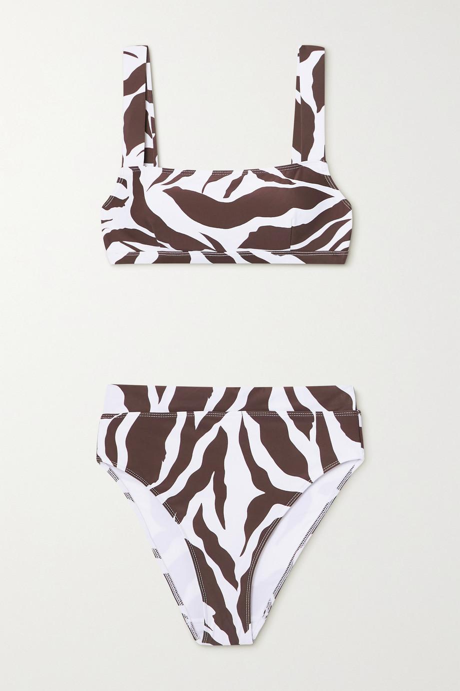 Faithfull The Brand + NET SUSTAIN Marta zebra-print bikini