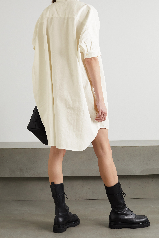 R13 Oversized cotton-drill shirt dress