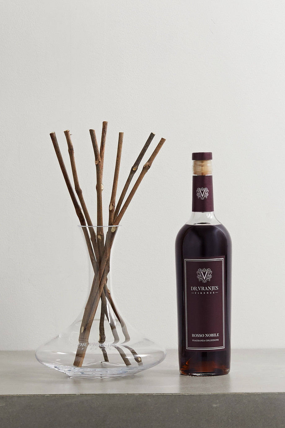 Dr. Vranjes Firenze Rosso Nobile reed diffuser and decanter, 750ml