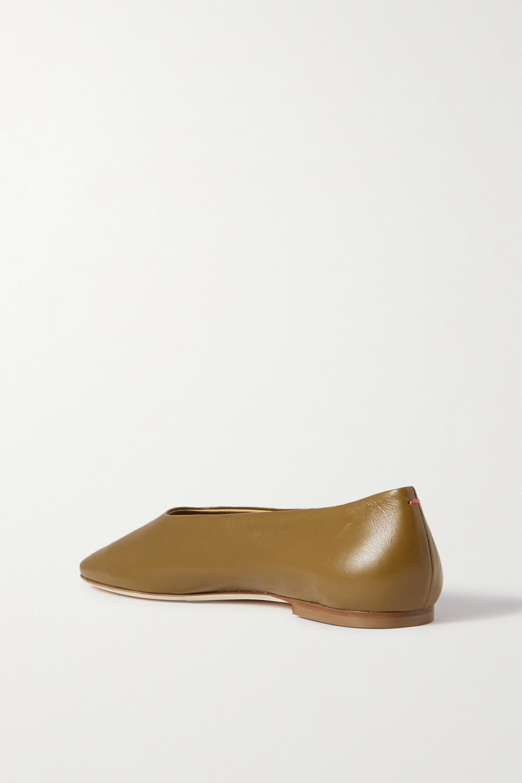 aeyde Kirsten leather ballet flats